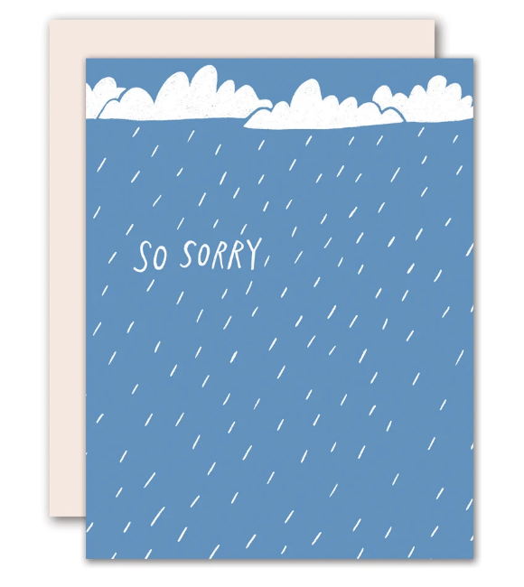 So Sorry Rain Card