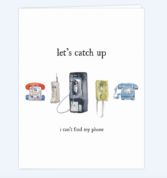 Let's Catch Up Card