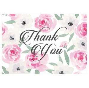 Caspari Flora Flora Thank You Notes