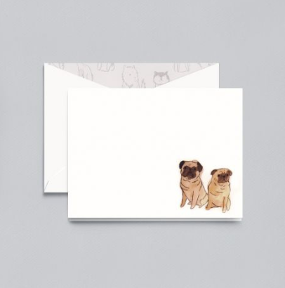 Crane Pug Notecards