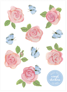 Rose & Butterfly Stickers
