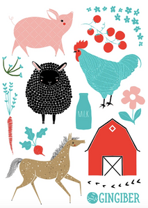Gingiber Farm Charm Stickers
