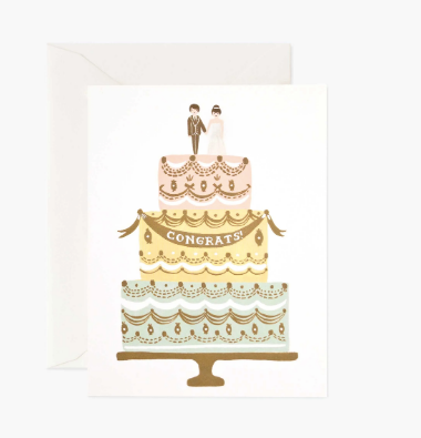 Rifle Paper Co. Wedding Cake Card