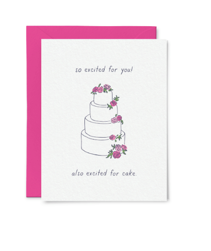 So Excited for You and Cake Card