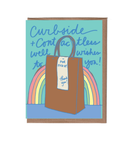 Curbside + Contactless Well Wishes Card
