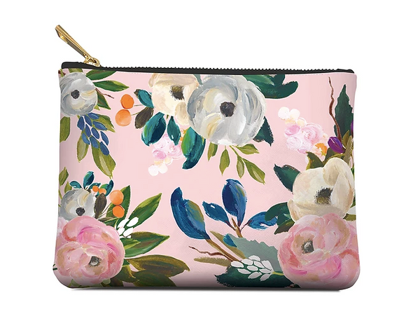 Bella Flora Zippered Pouch