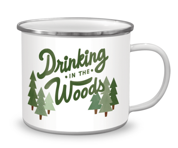 Drinking in the Woods Enamel Mug