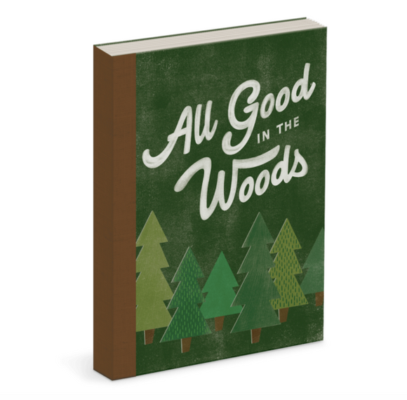 All Good in the Woods Linen Bound Journal