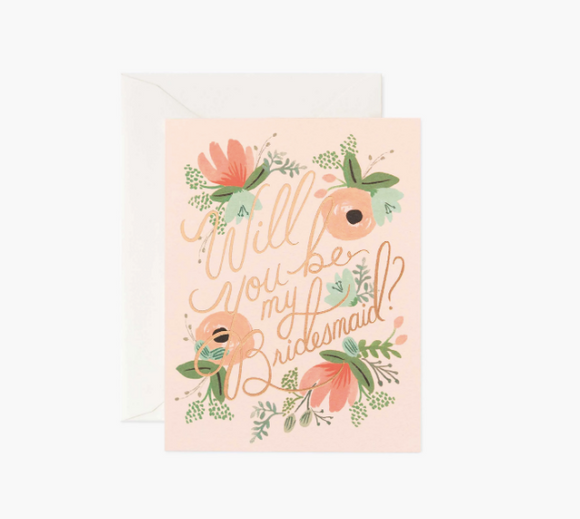 Rifle Paper Co. Blushing Bridesmaid Card