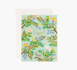 Rifle Paper Co. Congrats Forest Card