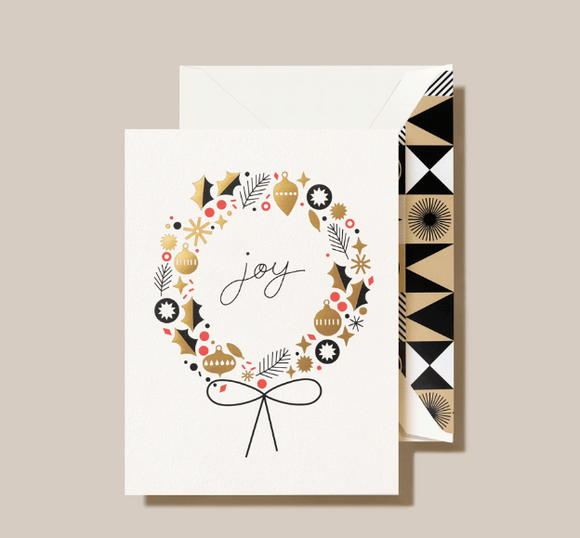Crane Wreath Notecards