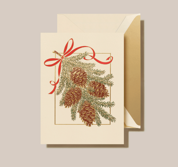 Holiday Pinecone Notecards