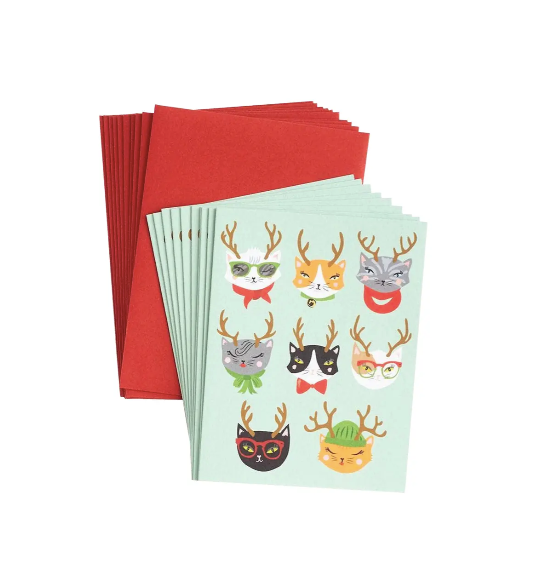 Christmas Cats Notecards