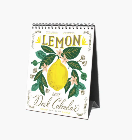 Rifle Paper Co. 2021 Lemon Desk Calendar