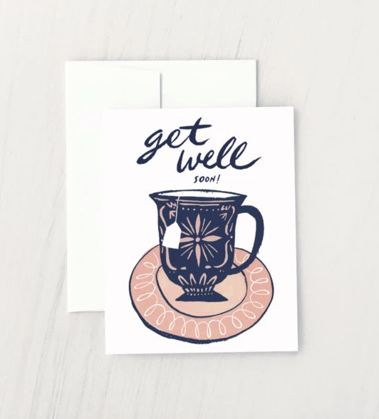 Get Well Soon Tea Card