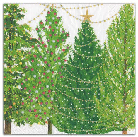 Christmas Trees With Lights Napkins