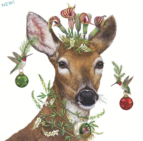 Holiday Deer Napkins