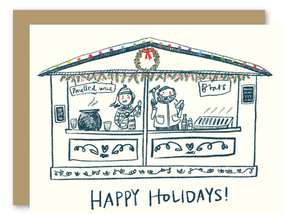 Christmas Market Card