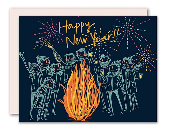 New Year's Bonfire Card