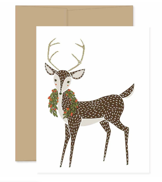Merrily Deer Card