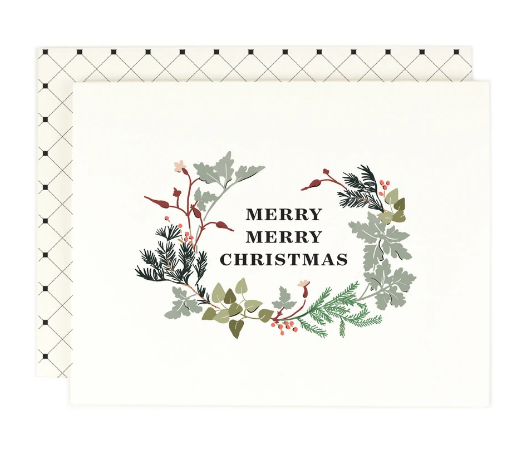 Merry Merry Wreath Card