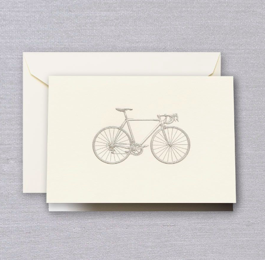 Crane Engraved Bike Notes
