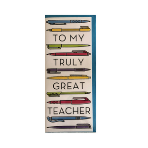 To My Truly Great Teacher Card