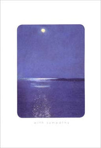 Moon Night Sympathy Card