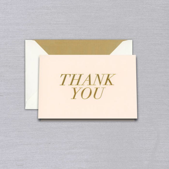 Vera Wang Blush Engraved Thank You Notes