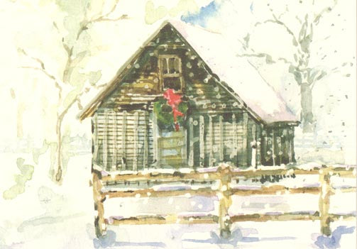 Christmas Cottage Notecards