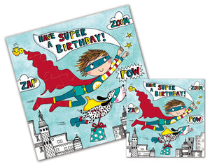 Superhero Jigsaw Puzzle Card
