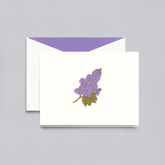 Crane & Co Lilac Notecards and Envelopes