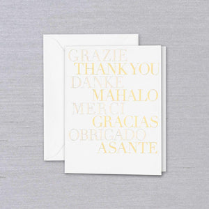 Crane & Co Multilingual Thank You Card