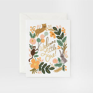 Rifle Paper Co. Welcome Little One Baby Card