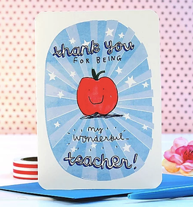 Apple Teacher Thank You Card