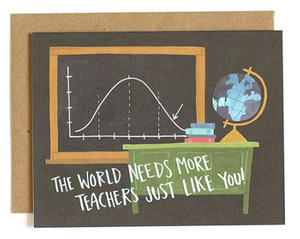 Chalkboard Teacher Card