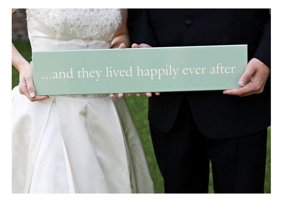 And They Lived Happily Ever After Wedding Card