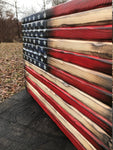 Distressed American Flag Hidden Gun Concealment Cabinet