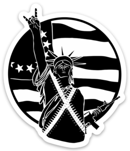 Sticker - black Liberty & Chill