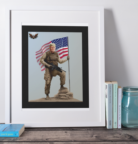 President Trump 16x20 Patriot Force Art Print