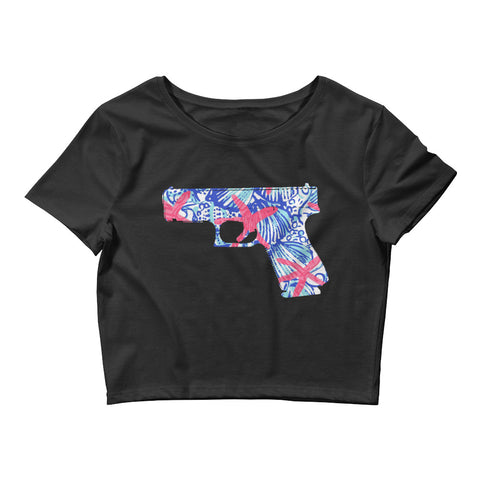 Ladies' Crop Tee - Coastal Themed Glock