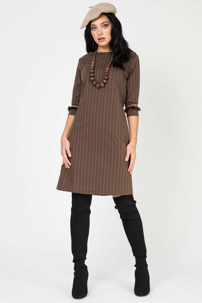 Giulia Brown Stripes RA-50173
