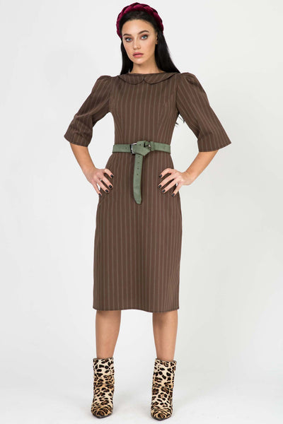 Selena Brown Stripes RA-50192