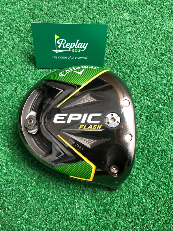 Callaway TOUR ISSUE Epic Flash Sub Zero Single Diamond Driver Head / 9 Degree - Replay Golf