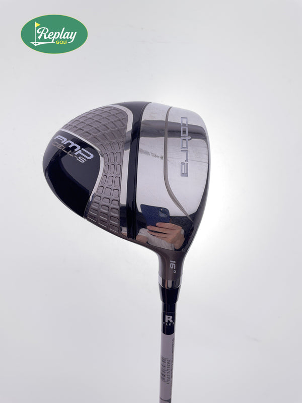 Cobra AMP Cell-S Black 3 Fairway Wood / 16 Degrees / Graphite Regular Flex - Replay Golf