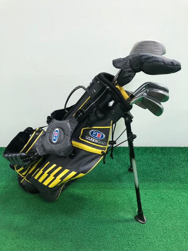 US Kids 42 Inch Yellow Junior Set / 8 Club Set + Bag / Right Handed - Replay Golf