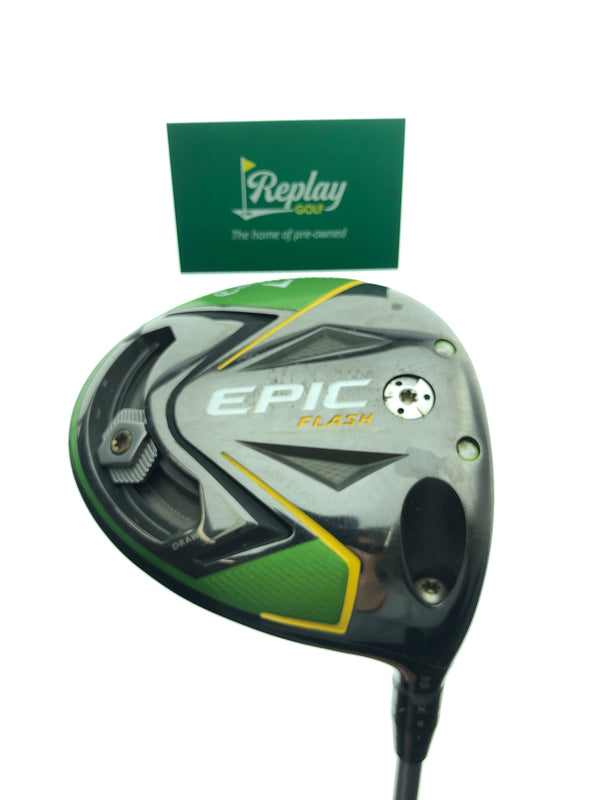 Callaway EPIC Flash Sub Zero Driver / 9.0 Degrees / Project X EvenFlow 55g 5.5 Regular Flex - Replay Golf