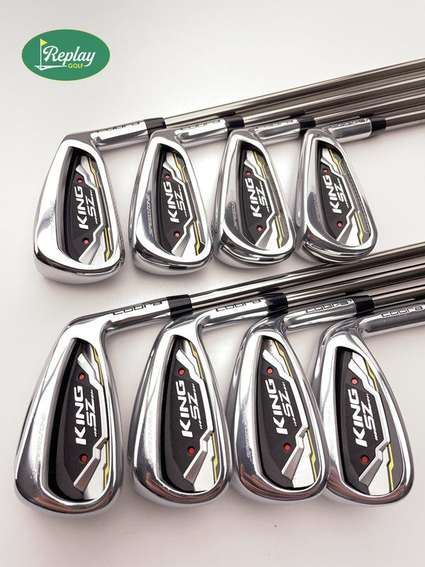 Cobra King SZ Iron Set / 4-PW+GW / Graphite Recoil ESX 460 F2 Senior Flex - Replay Golf