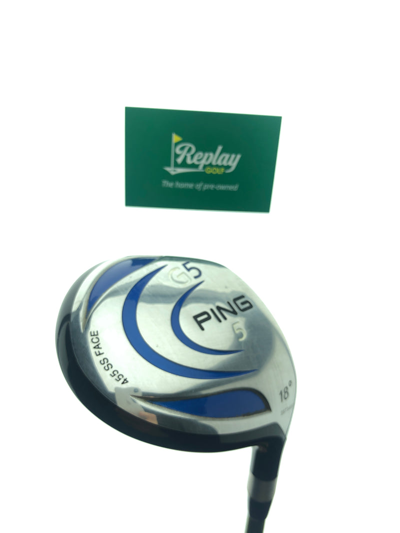 Ping G5 5 Fairway Wood / 18 Degrees / Aldila NV Green 75 Regular Flex - Replay Golf