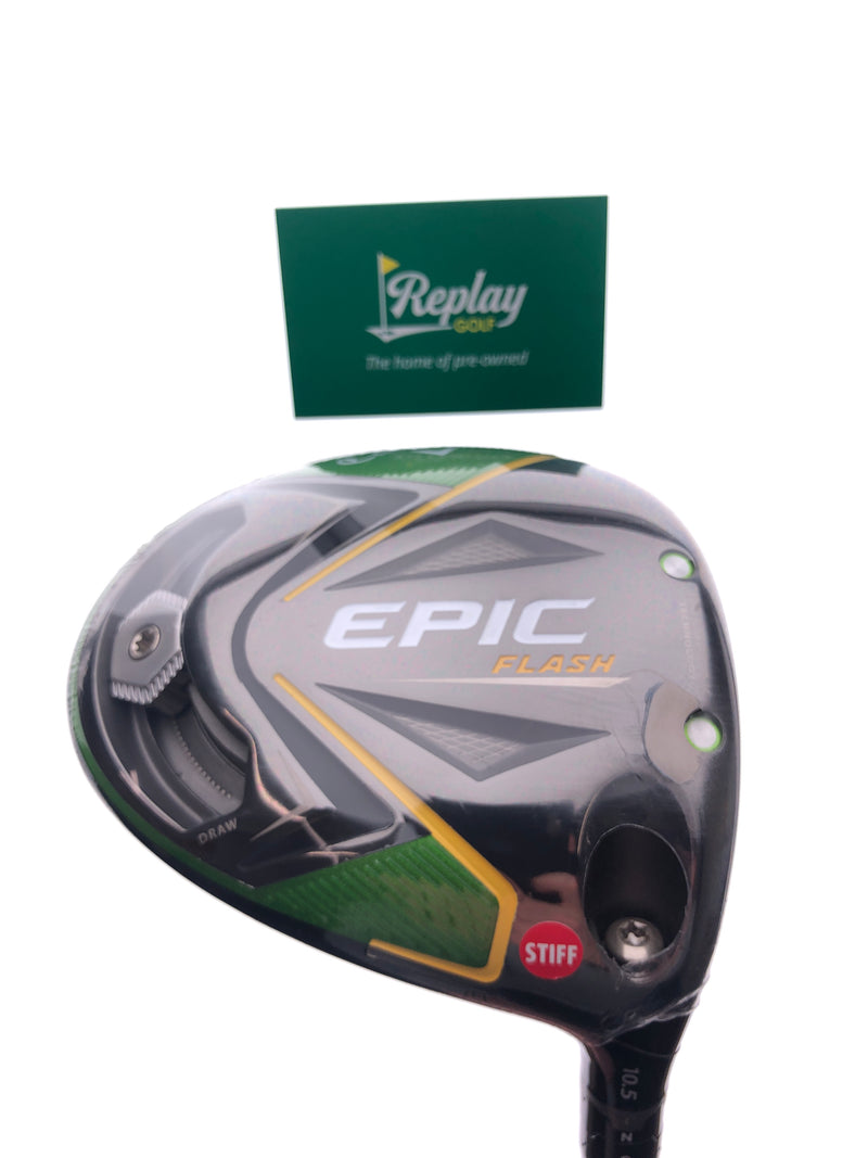 NEW Callaway EPIC Flash Driver / 10.5 Degrees / Project X Even Flow 6.0 Stiff Flex - Replay Golf